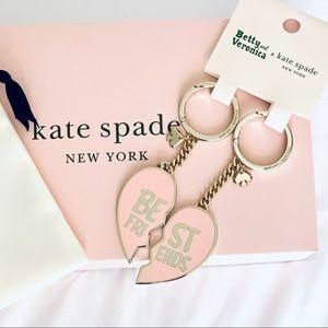 Kate Spade Archie Best Friends Keychain FOB Set
